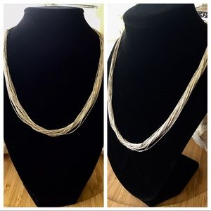 VTG Liquid Sterling Silver 17 Inch Necklace